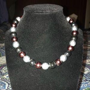 Premier faux pearl choker